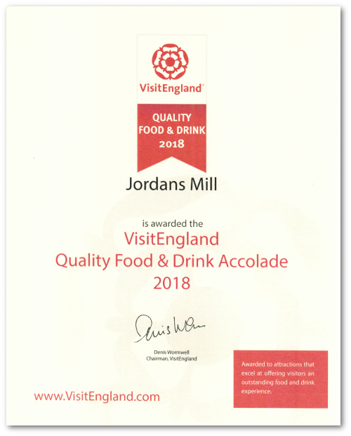 Jordans Mill has won a national award!